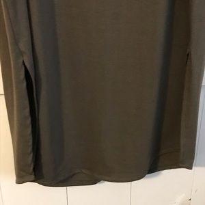 torrid Dresses - NWT Olive Green Torrid Midi Tank Dress w/side slit